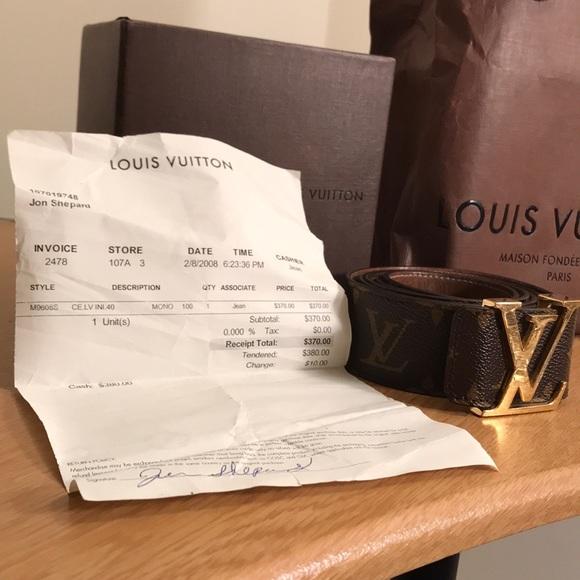 9e657268bdbd Louis Vuitton Other - Louis Vuitton Monogram Belt